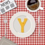 Letras del alfabeto del queso en vector de servicio imágenes de archivo libres de regalías