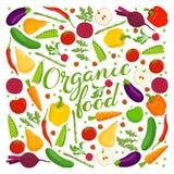 Letras del alimento biológico Stock de ilustración