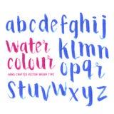 Letras del cepillo del Watercolour Fotografía de archivo