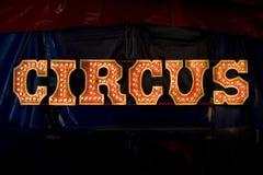 Letras del circo Imagen de archivo libre de regalías