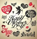 Letras del día de la tarjeta del día de San Valentín Imagen de archivo libre de regalías