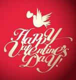 Letras del día de la tarjeta del día de San Valentín Foto de archivo