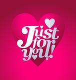 Letras del día de la tarjeta del día de San Valentín Fotos de archivo