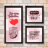 Letras del día de la tarjeta del día de San Valentín Fotografía de archivo libre de regalías