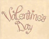 Letras del día de Valentintine del vintage Ilustración del Vector