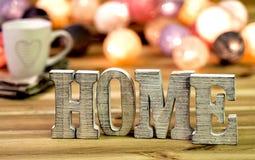 Letras del ` del hogar del ` Fotos de archivo libres de regalías