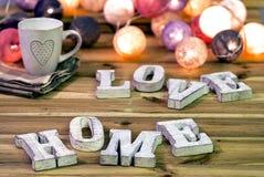 Letras del ` del hogar del amor del ` Imagenes de archivo