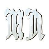 Letras del diseño del guilloquis, Foto de archivo libre de regalías
