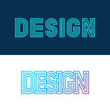 Letras del diseño del vector en estilo linear Fotografía de archivo