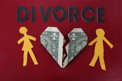 Letras del divorcio Foto de archivo libre de regalías