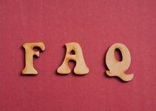 Letras del FAQ Foto de archivo libre de regalías