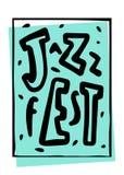 Letras del festival de música Foto de archivo libre de regalías