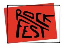 Letras del festival de música Imagen de archivo libre de regalías