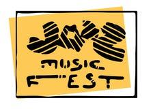 Letras del festival de música Imágenes de archivo libres de regalías