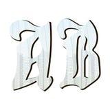 Letras del guilloquis para el diseño, Fotografía de archivo