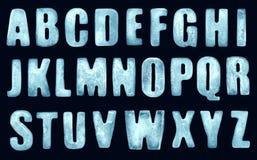 Letras del hielo Foto de archivo libre de regalías