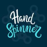 Letras del hilandero de la mano del vector Foto de archivo