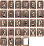 Letras del metal Imágenes de archivo libres de regalías