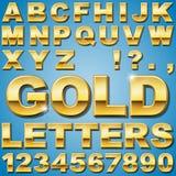 Letras del oro Foto de archivo
