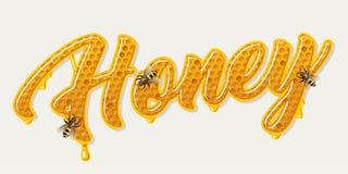 Letras del peine de la miel libre illustration