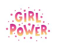Letras del poder de la muchacha Imágenes de archivo libres de regalías