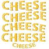Letras del queso Imagen de archivo libre de regalías