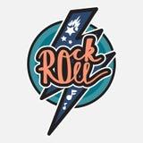 Letras del rock-and-roll Imagenes de archivo