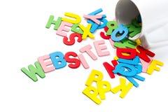 Letras del sitio web Imagen de archivo