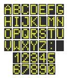 Letras del tablero del aeropuerto Fotos de archivo libres de regalías