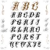 Letras del tatuaje ilustración del vector