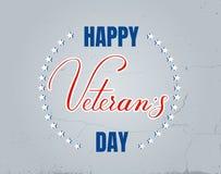 Letras del vector del día de los veteranos Imagen de archivo