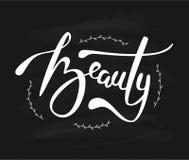 Letras del vector del dibujo de la mano de la belleza Foto de archivo libre de regalías