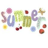 Letras del verano Imágenes de archivo libres de regalías