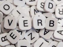 Letras del verbo Foto de archivo
