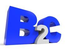 Letras del volumen de B2C en el fondo blanco stock de ilustración