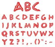 Letras desenhadas mão ilustração stock