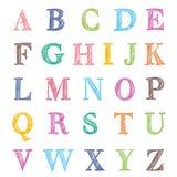 Letras desenhadas mão do ABC Imagem de Stock