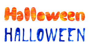 Letras dibujadas mano de Colorfull Halloween Fotografía de archivo libre de regalías