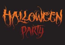 Letras dibujadas mano de Halloween stock de ilustración