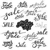 Letras dibujadas mano de la caligrafía de la venta Foto de archivo