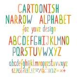 Letras dibujadas mano del alfabeto de la historieta libre illustration