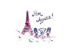Letras dibujadas mano del appetit del Bon Fotos de archivo libres de regalías