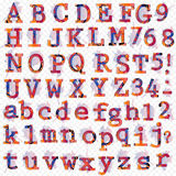 Letras dibujadas mano del diseño para su texto Imagenes de archivo