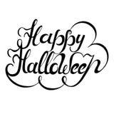 Letras dibujadas mano del feliz Halloween Imagen de archivo