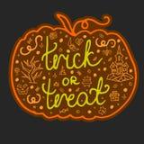 Letras dibujadas mano del texto de Halloween Fotografía de archivo