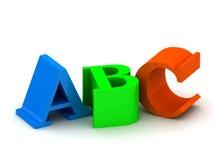 Letras do ABC ilustração stock