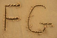 Letras do alfabeto Imagem de Stock