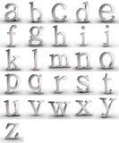 Letras do alfabeto Fotos de Stock Royalty Free
