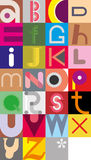 Letras do alfabeto Imagem de Stock Royalty Free