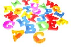 Letras do alfabeto fotografia de stock